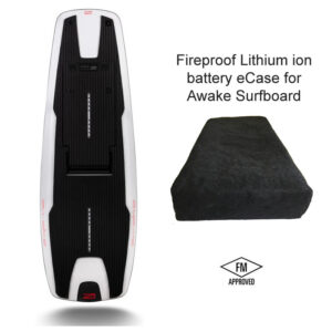 Awake surfboard fireproof battery case
