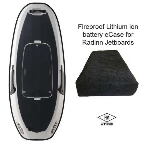 Radinn jetboard fireproof battery case