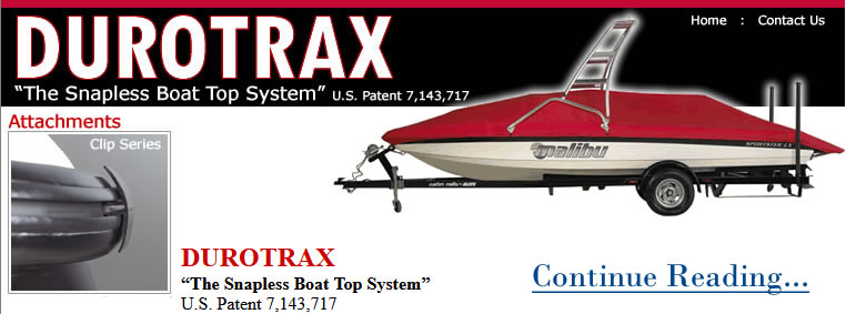 DUROTRAX Snapless Boat Top System